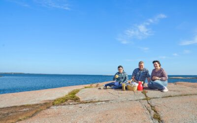 Natalya Oskarshamnslots med familj