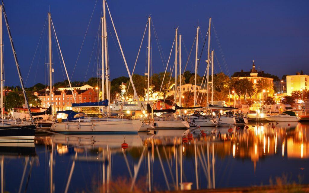 En vacker kväll i Oskarshamns gästhamn