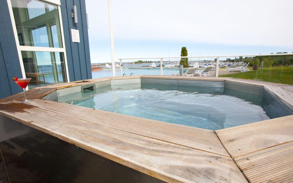 Bubbelpoolen på Hotel Corallen i Oskarshamn
