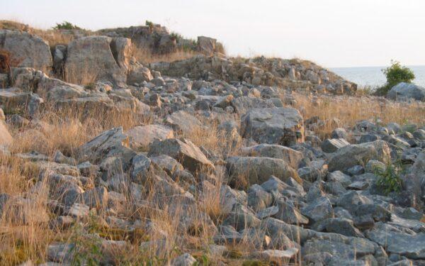 Stenar på ön Furön utanför Oskarshamn