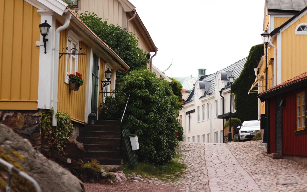 Den gamla stadsdelen Besväret i Oskarshamn