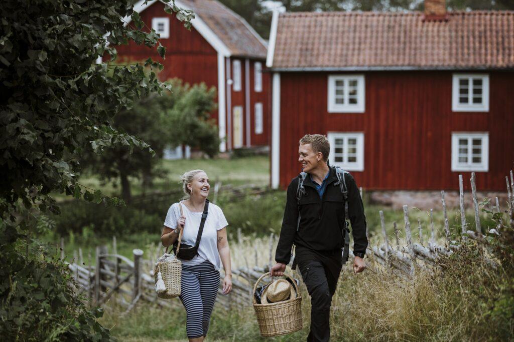 Amanda och Johan i Stensjö by