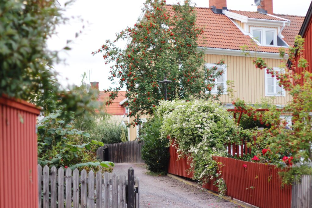 Hus i Besväret i Oskarshamns centrum.