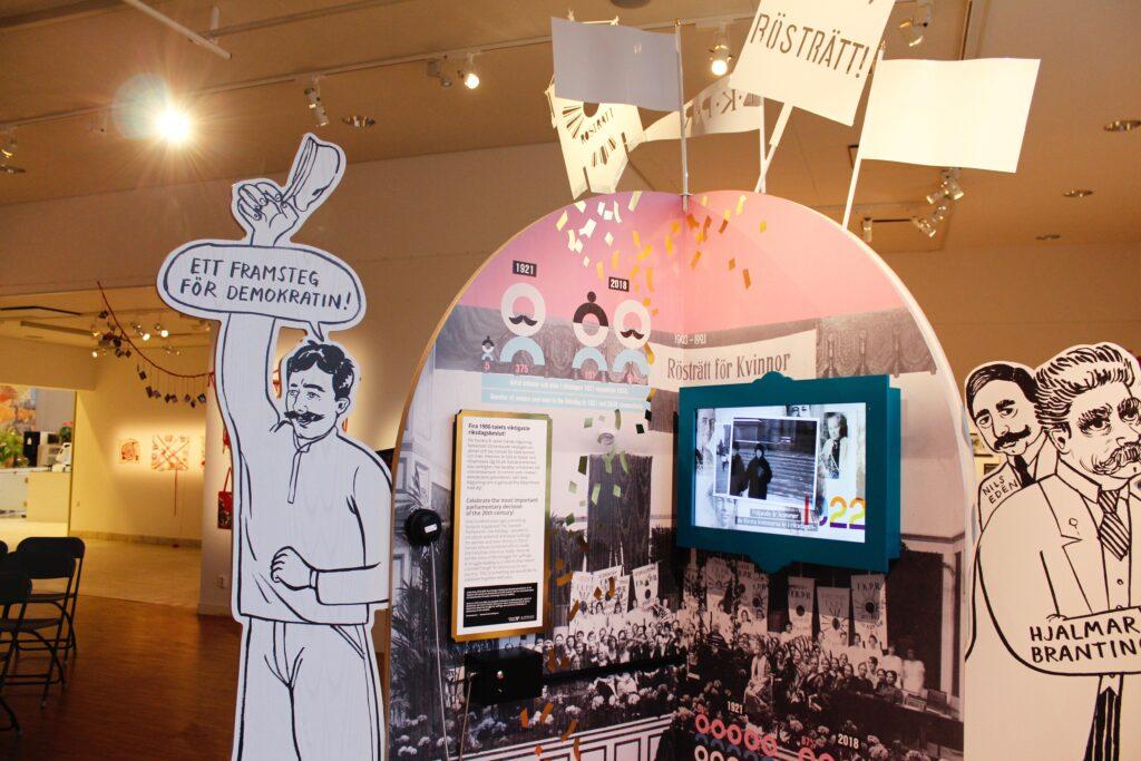 Foto från utställning i Konsthallen.