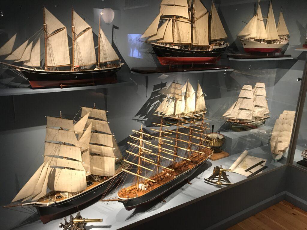 Fartyg på Sjöfartsmuseet.