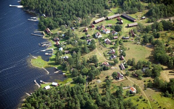 Flygfoto över Runnö